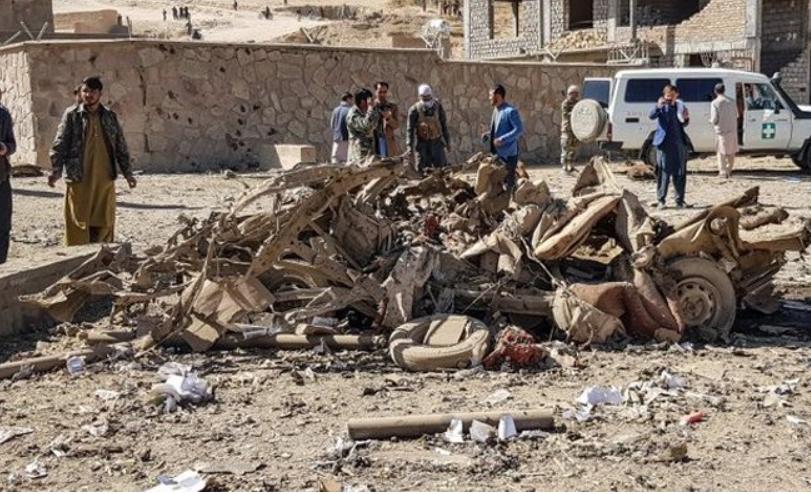 A bomb blast near the Afghan capital