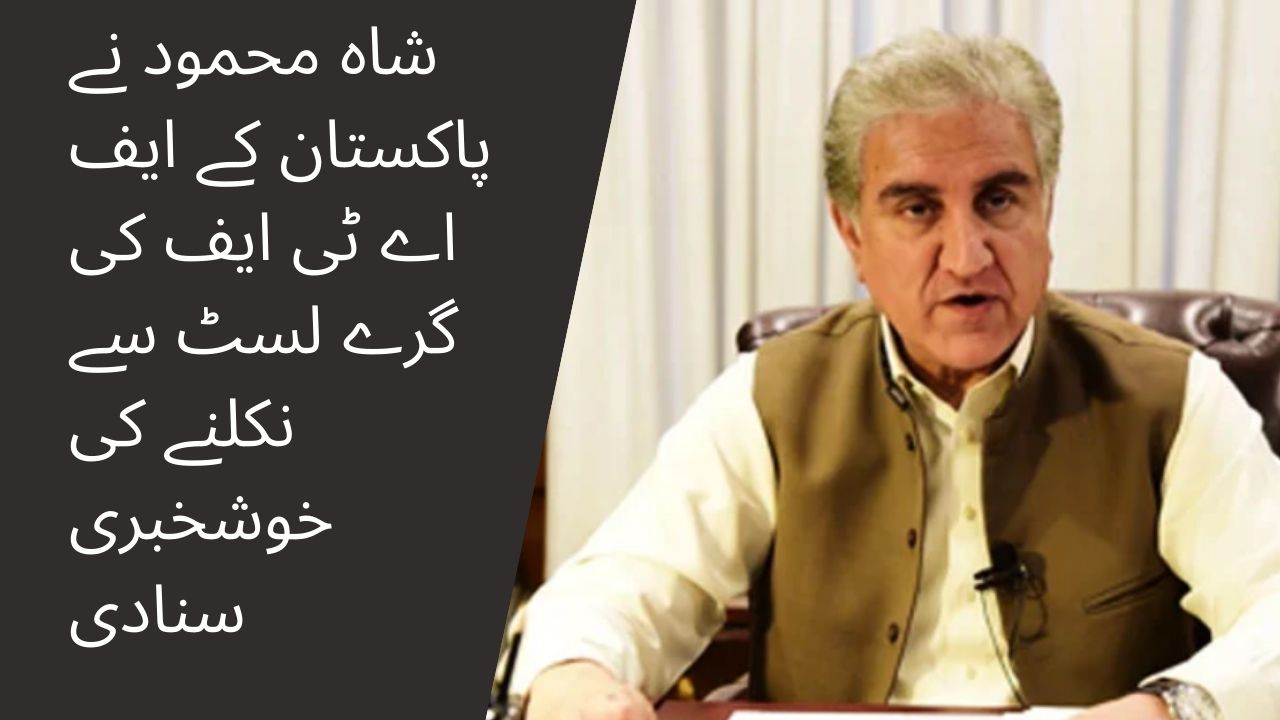 Shah Mehmood announced the good news of Pakistans removal from the FATF gray list 1