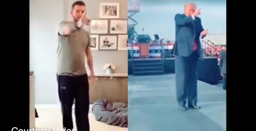 US President Trump's dance video goes viral