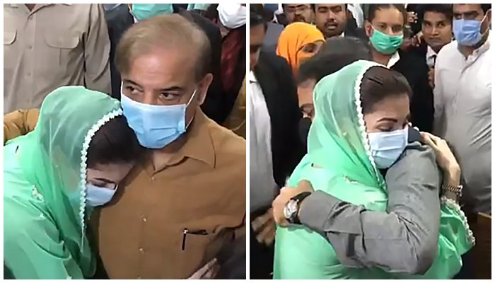 What message did Maryam Nawaz carry to Shahbaz Sharif today in court?