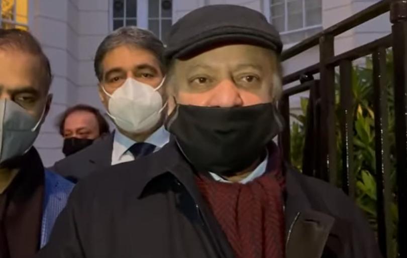 Nawaz Sharif's Media Talk In London About Khawaja Asif's Arrest