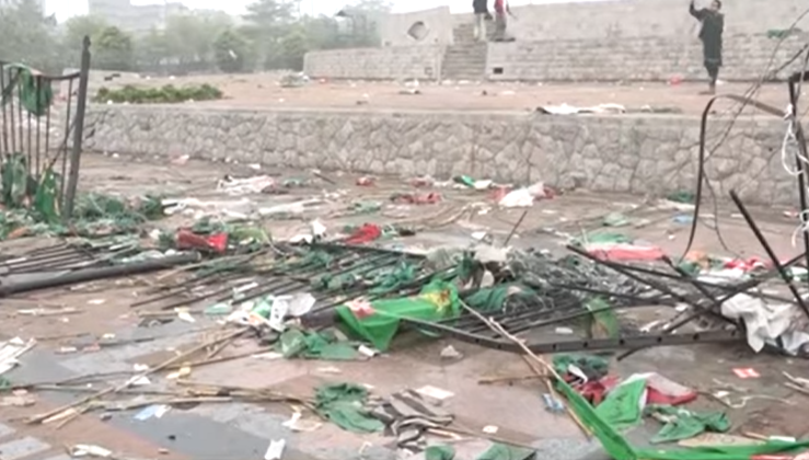 Minar-e-Pakistan Ground Turned Into Garbage After PDM Jalsa