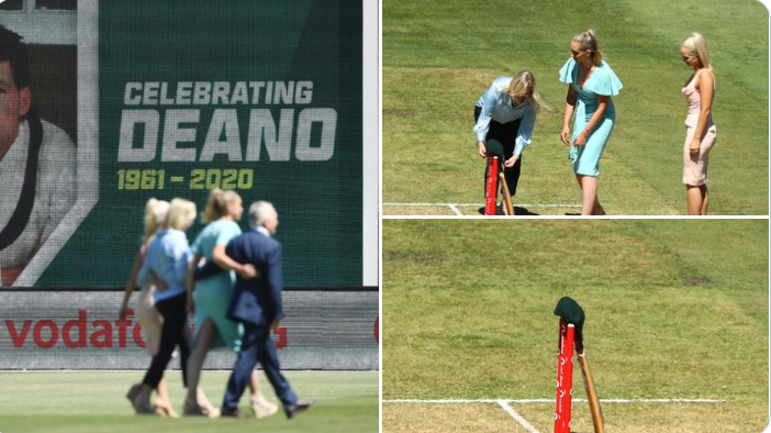 Dean Jones' wife and daughters paid tribute to the Australia legend at his beloved MCG today