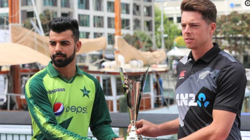Unveiling of T20 series trophy between Pakistan and New Zealand