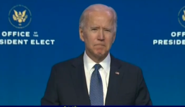 Joe Biden called those who attacked parliament terrorists