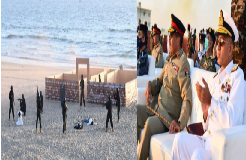 Participation in Pakistan Navy exercises with assets from more than 40 countries