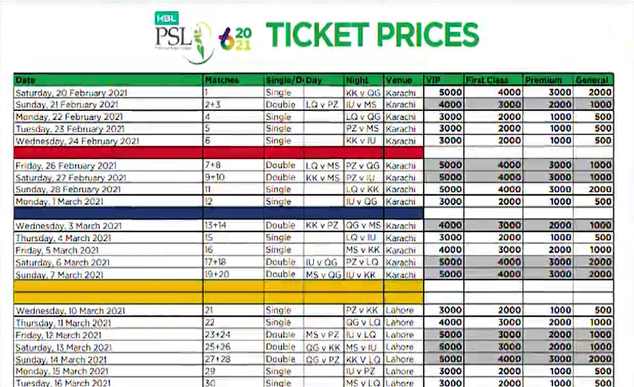 With 3 days left till the PSL Six festival, online ticket sales have started