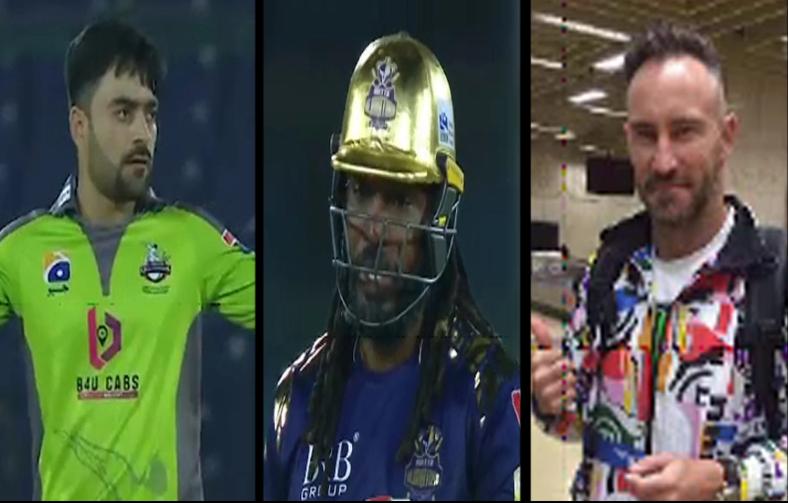 Chris Gayle and Rashid Khan left their teams, Faf Dupleix reached Pakistan