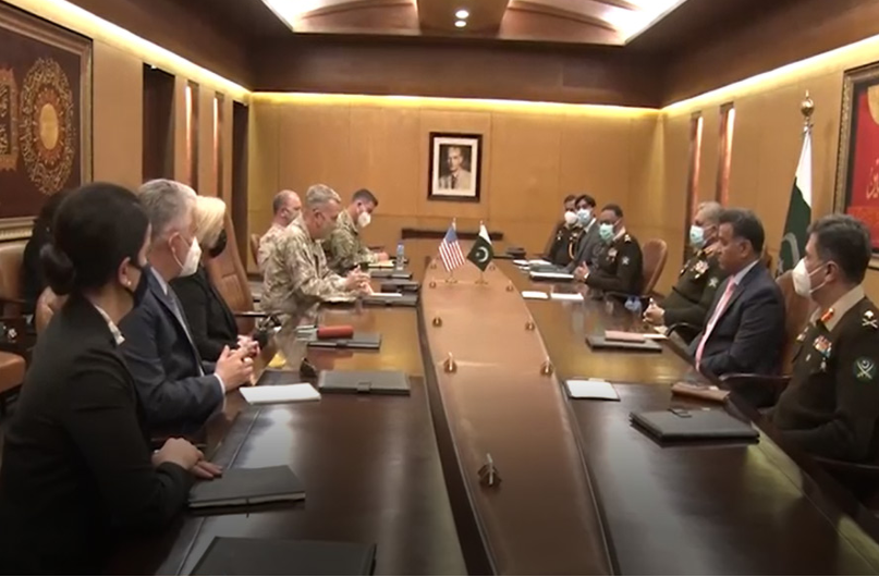 US Commander General McKinsey meets Army Chief, discusses issues of mutual interest and regional issues