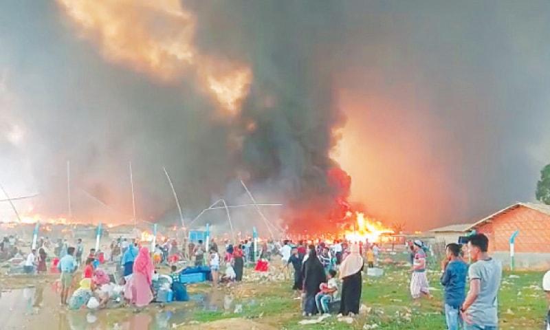Huge Fire Destroys Homes In Rohingya Refugee Camp In Bangladesh