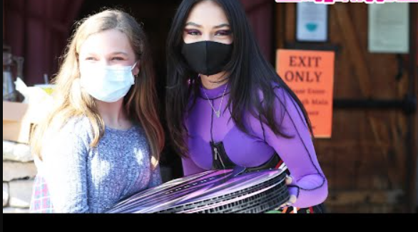Avani Gregg Gifts Her Morphe Makeup Collection To Fans In A Custom Big Screen Van At Saddle Ranch