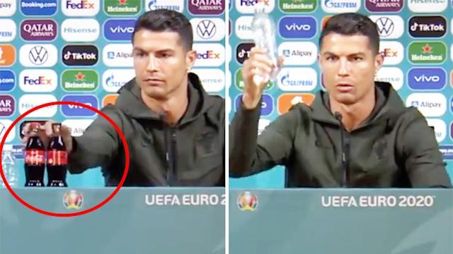 Aussie hosts bizarre reaction to Ronaldo's Coca-Cola stunt