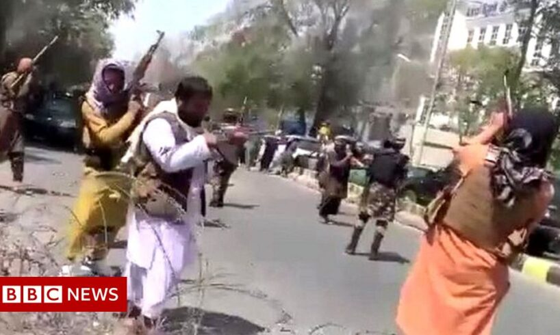 Taliban fired warning shots at a protest in Kabul.