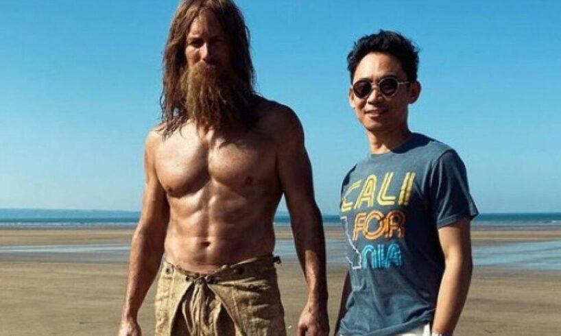 Jason Momoa and Patrick Wilson shoot Aquaman 2 at North Devon Beach