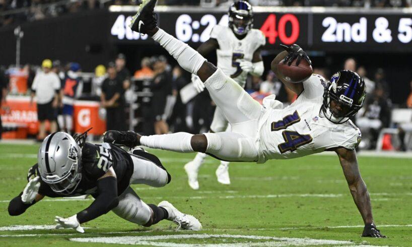 Nassib's strip-sack helps Raiders in OT victory over Ravens