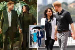 Meghan's signature pose with Harry 'unnatural and staged', says body language expert