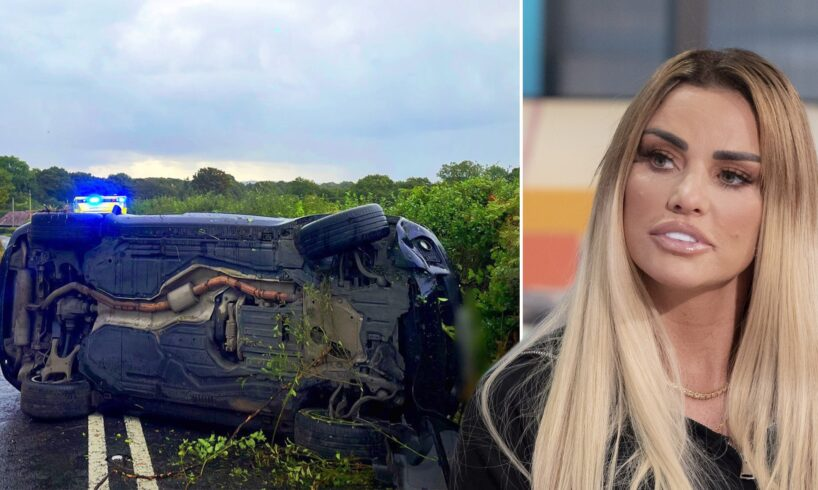 Katie Price arrested on suspicion of drink-driving following a car crash