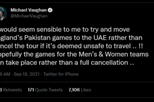 Michael Vaughan Feels Pakistan-England Series Should Be Moved To UAE If It's Deemed Unsafe To Travel