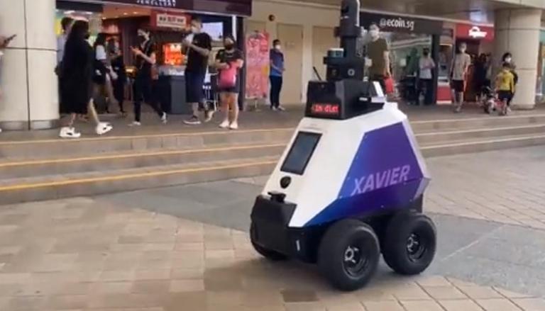 Singapore has deployed robots to patrol public areas